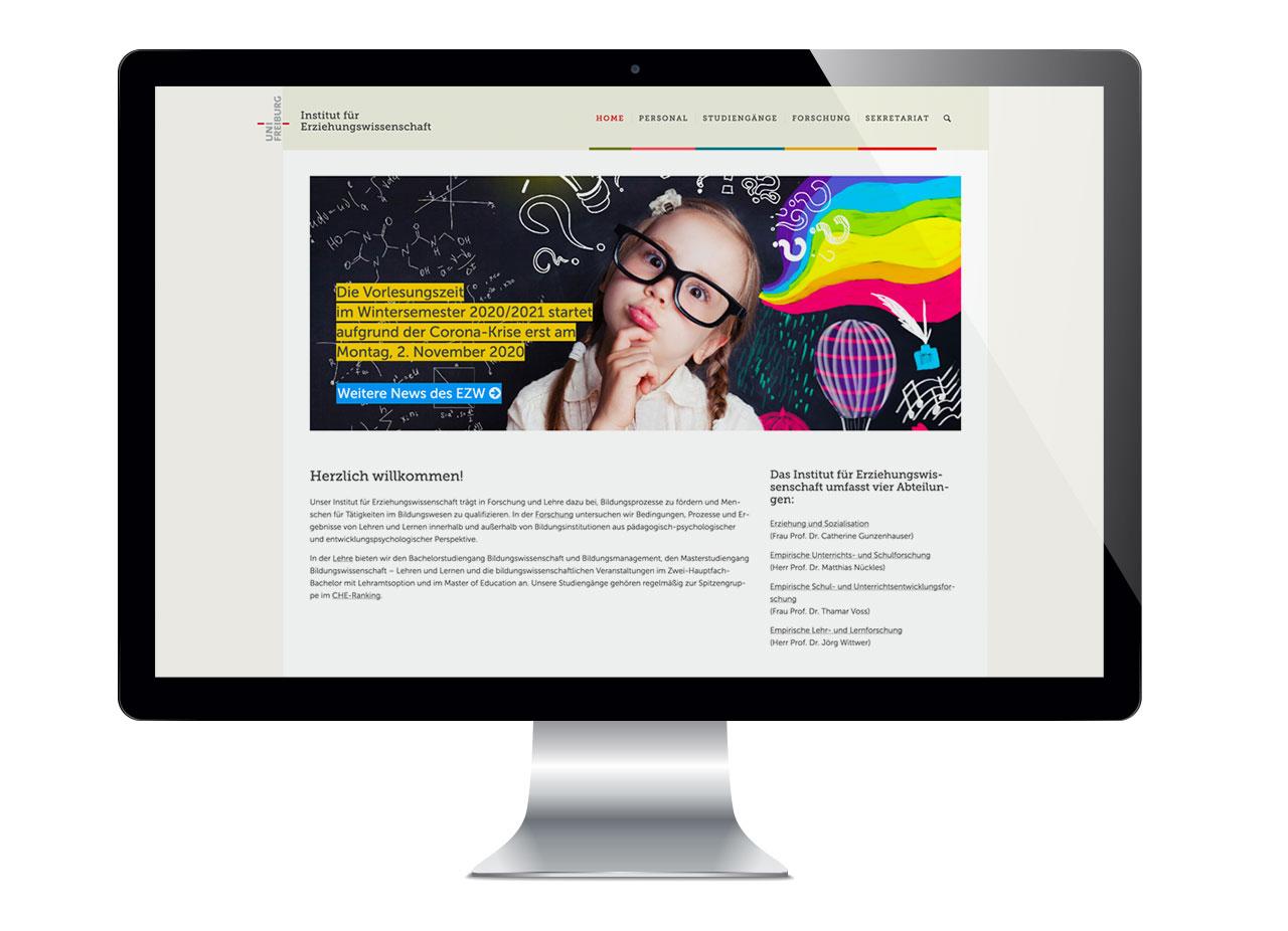 Intitut für Erziehungswissenschaft Uni Freiburg Website
